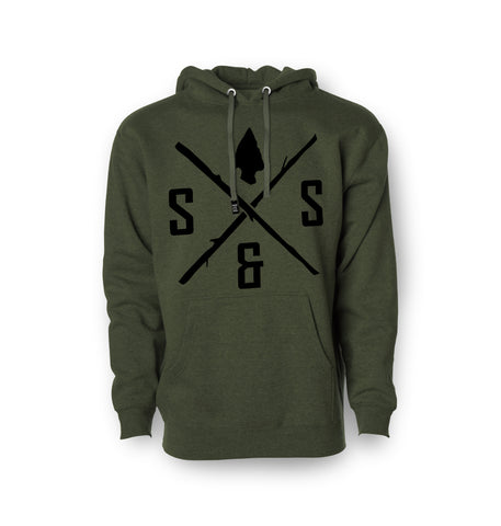 BLACK LOGO ARMY GREEN PULLOVER