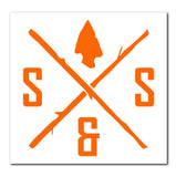 DIE-CUT LOGO BLAZE ORANGE DECAL