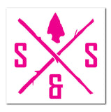 DIE-CUT LOGO PINK DECAL