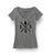 Black Logo Heather Grey V-Neck