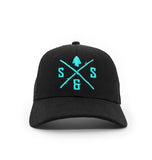 AQUA LOGO BLACK HAT