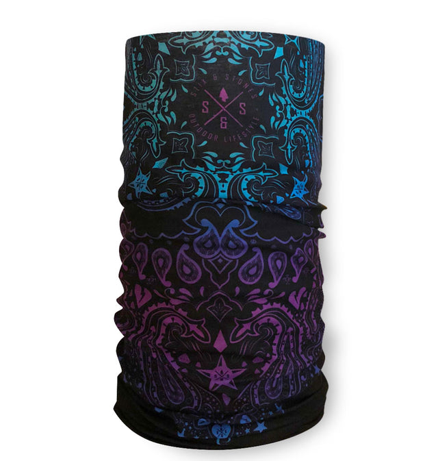 UV face mask, Bandanna pattern