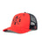 BLACK LOGO RED MESH HAT