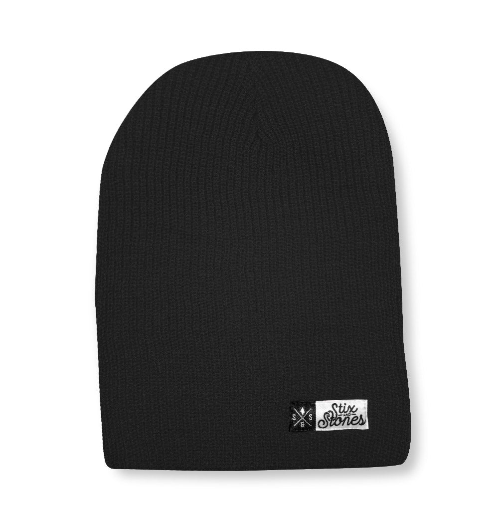 Winter hat black, 2 in 1 toque