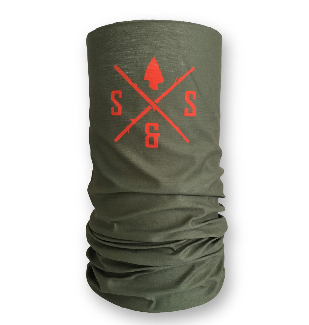 UV face mask, Military green with blaze logo