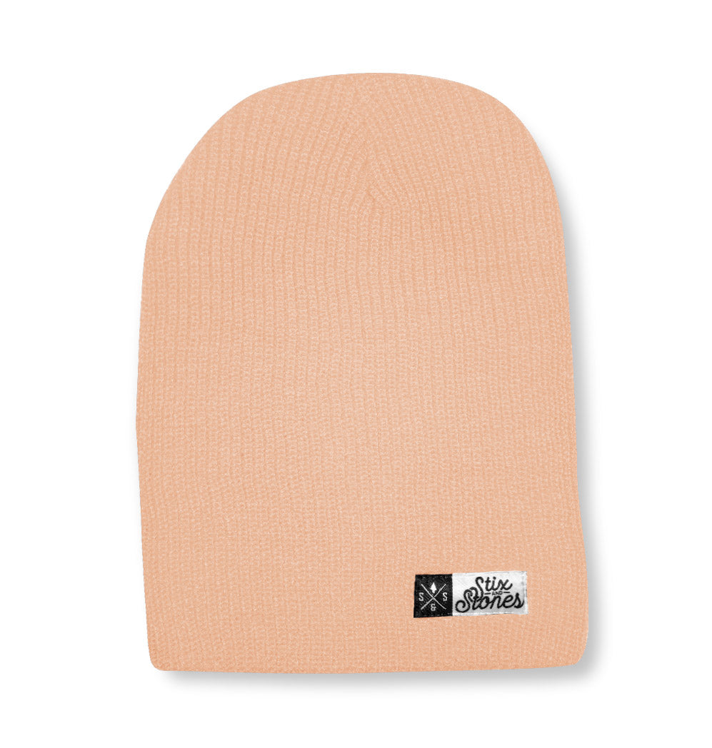 Winter hat peach, 2 in 1 toque