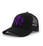PURPLE LOGO BLACK HAT