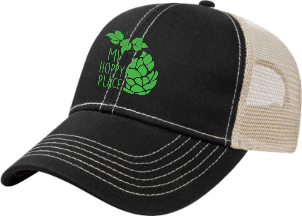 MI Hoppy Place Black Trucker Cap