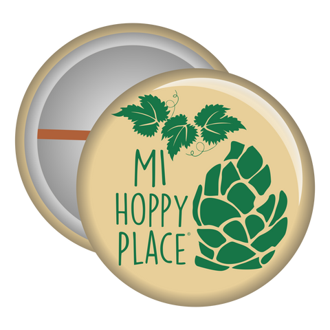 MI Hoppy Place Button Pin