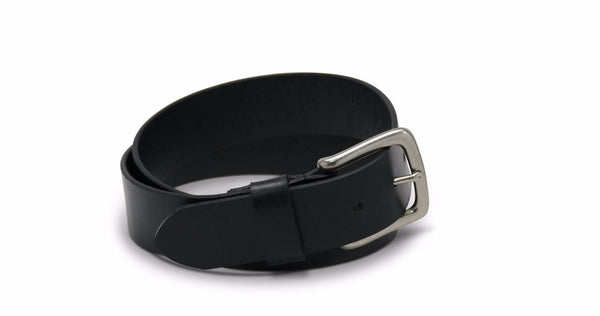 Brothers Leather Belt in Black