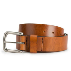 Brothers Leather Belt in Light Brown