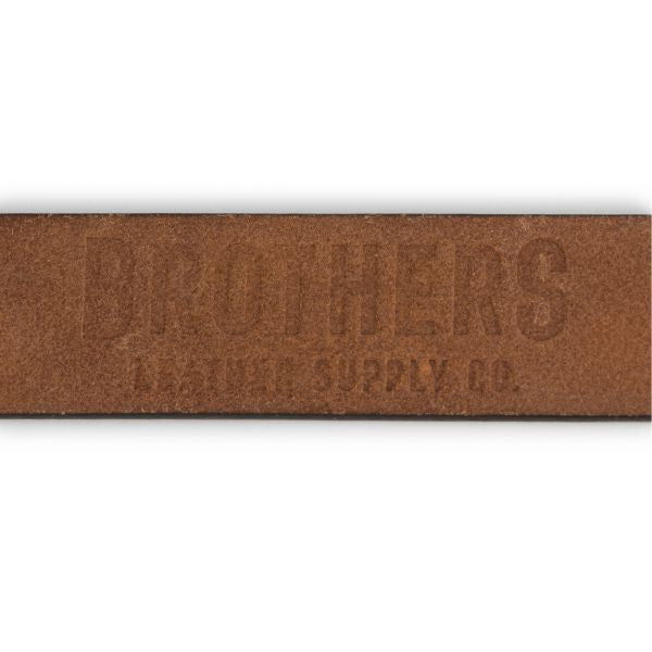Brothers Leather Belt // Dark Brown - Brothers Leather Supply Co.