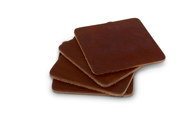 Leather Coasters - Set of 4 - Brothers Leather Supply Co.