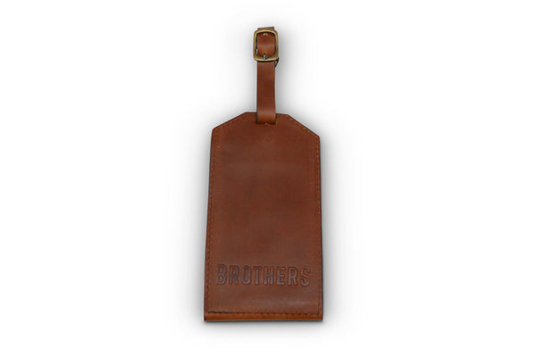 Brothers Leather Luggage Tag