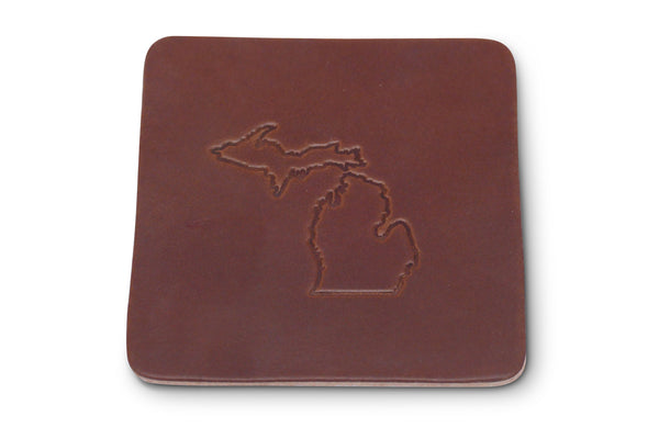 Leather Coasters - Set of 4