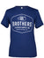 Brothers Leather Logo T-Shirt // Blue