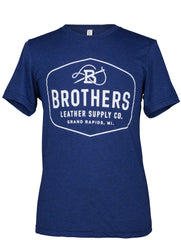 Brothers Leather Logo T-Shirt // Blue - Brothers Leather Supply Co.
