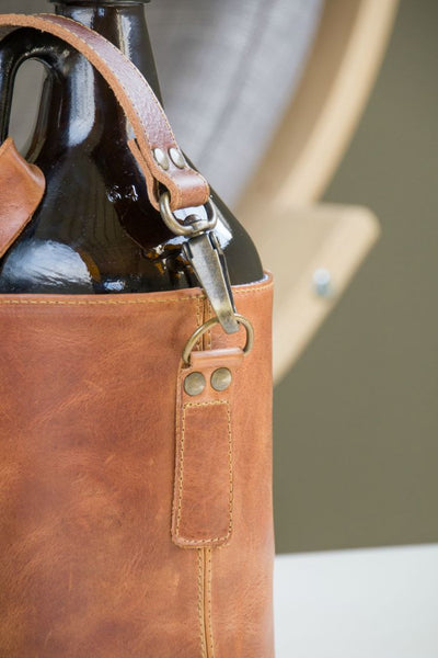 The C.W. Growler Bag - Brothers Leather Supply Co.