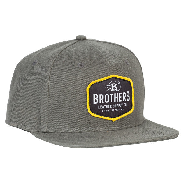 Brothers Leather Logo Hat