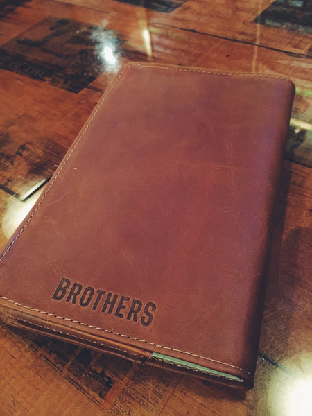 Brothers Leather Notebook Cover