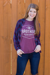 Brothers Leather Logo T-Shirt // Maroon - Brothers Leather Supply Co.