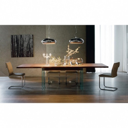 Ikon Dining Table - Walnut/Graphite