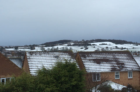 Snow over North Derbyshire