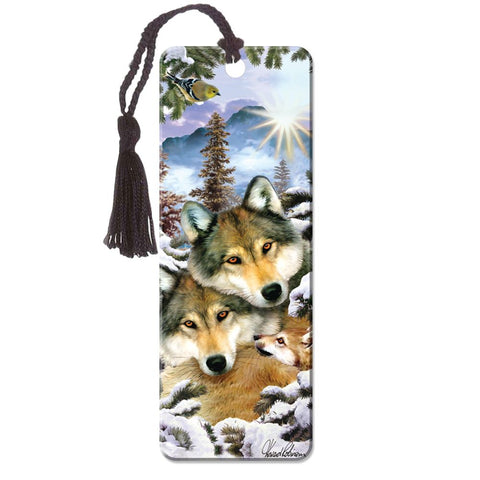 Wolf Harmony Super 3D Effect Howard Robinson Bookmark