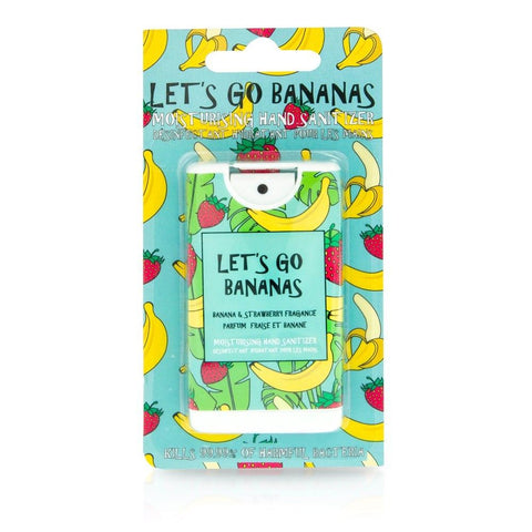Moisturising Antibacterial Let's Go Bananas Hand Sanitizer Novelty Spray