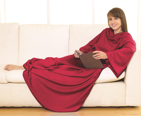 Sleeved Fleece Blanket Super Soft Snuggle Wrap