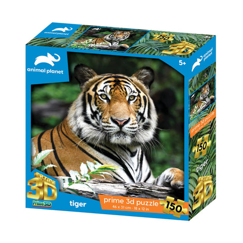 Tiger 150pc Prime 3D Effect Animal Planet Jigsaw Puzzle