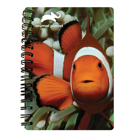 Clown Fish Prime 3D Effect Animal Planet A6 Notebook