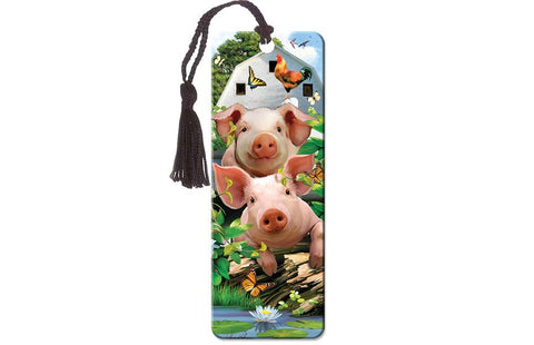 Little Piglets Super 3D Effect Bookmark By Howard Robinson