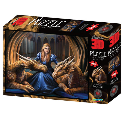 Anne Stokes Fierce Loyalty 500pc Super 3D Effect Puzzle