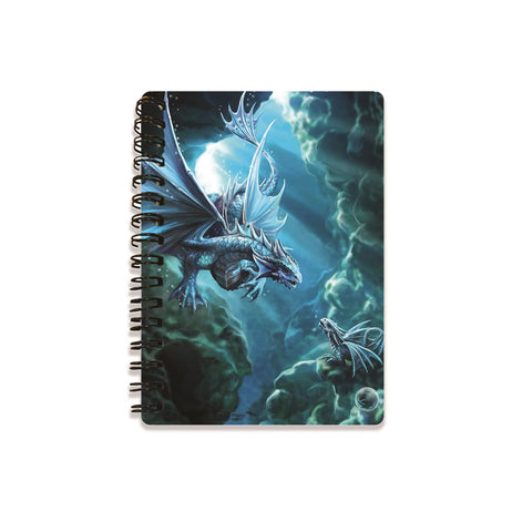 Water Dragon 3D Effect Anne Stokes Notebook
