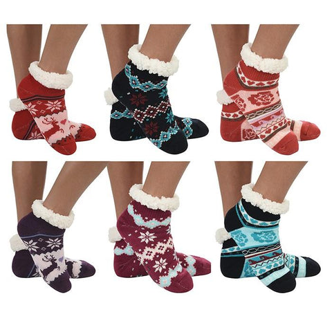 Snoozies Cozy Sherpa Fleece Lined Socks