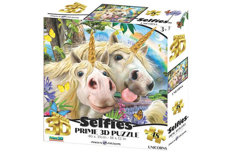 Howard Robinson Unicorn Selfie 48 Piece Super 3D Effect Puzzle