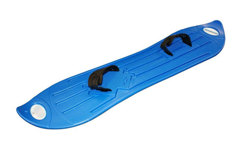 Blue Plastic Snowboard with Adjustable Straps 103cm