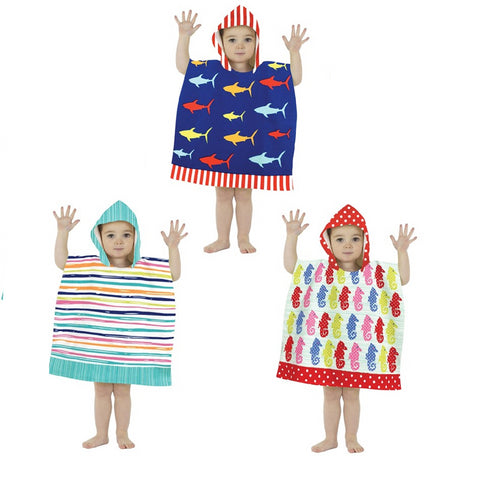 Country Club Microfibre Kids Poncho Pal Hooded Robe