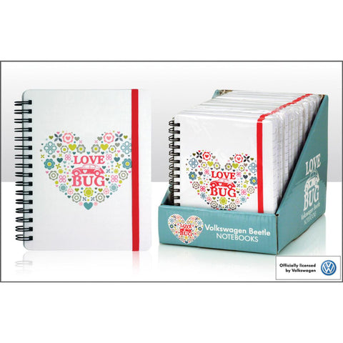VW Beetle Love Bug Heart Notebook