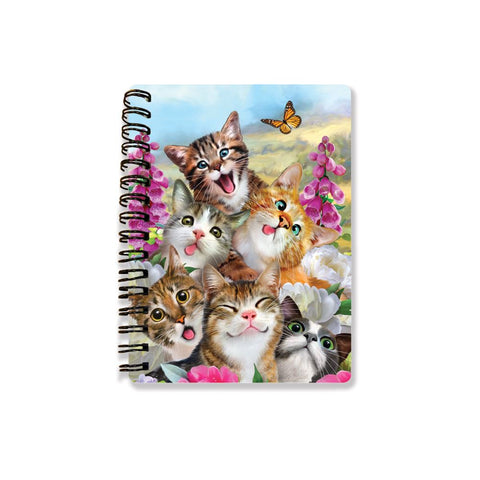 Cat Selfie 3D Effect Howard Robinson Notebook