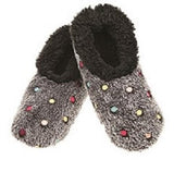Polka Dot Design Snoozies Slippers Sherpa Fleece Slipper Socks