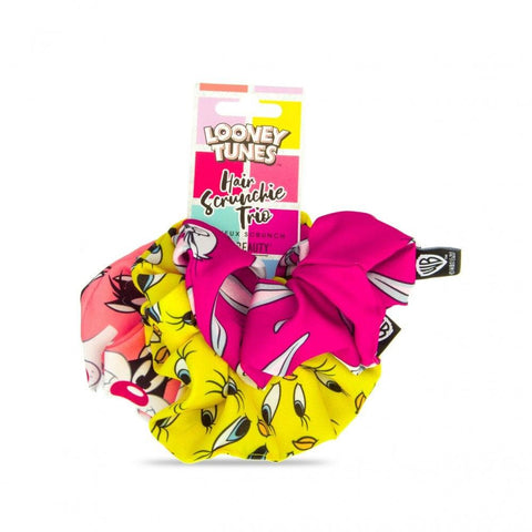 Looney Tunes 3PK Hair Scrunchies By MAD Beauty