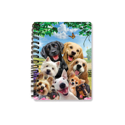Dog Selfie 3D Effect Howard Robinson Notebook
