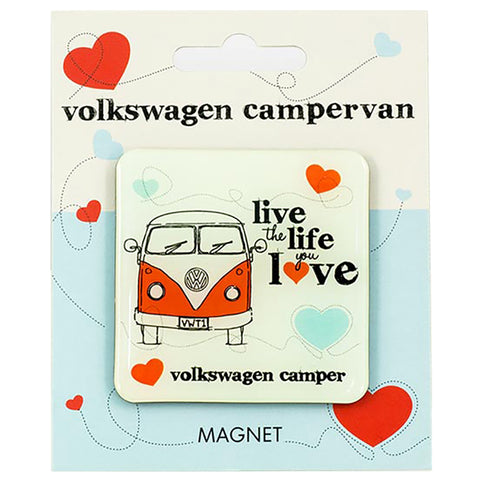VW Live The Life You Love Fridge Magnet Officially Licensed By Volkswagen