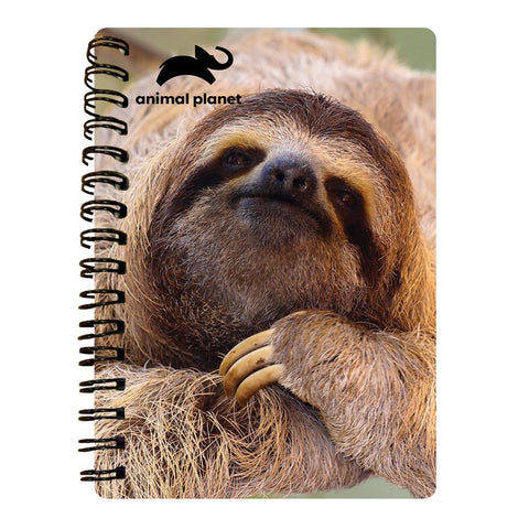 Sloth Prime 3D Effect Animal Planet A6 Notebook