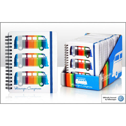 VW A6 Coloured Stripes Camper Ring Binder Notebook