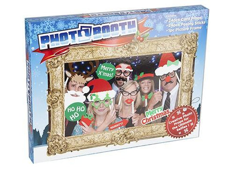 Novelty Christmas Family Photo Booth - 24pc Selfie Props