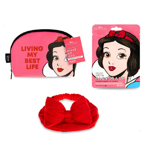 Snow White Beauty Bundle Makeup Bag, Headband & Face Mask
