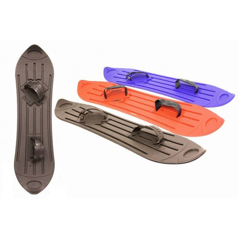Plastic Snowboard with Adjustable Straps